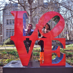 the LOVE statue at UPenn!