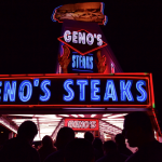 First time eating a genuine Philly Cheesesteak! Genos!