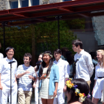 Swarthmore's acapella group, Chaverim performing at May Day!