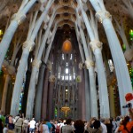 Inside of La Sagrada Familia