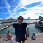 photo of me at Barcelona harbor