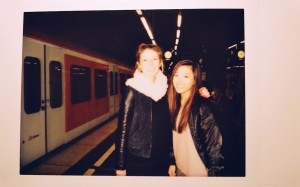 picture with Claire infront of S Bahn