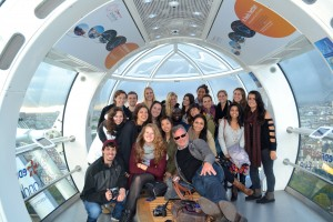 Strategic Comm class on the London Eye!