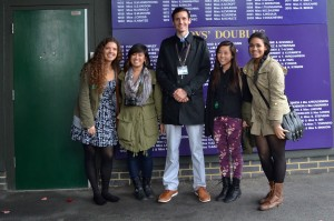 Thank you to our wonderful (and extremely tall) Wimbledon tour guide, Ben!