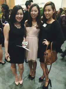 Bryn Mawr students at 12+ Gala, Yuju Park '16, Eunyoung Park '15 and moi!