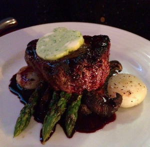 our delicious medium-rare fillet mignon!